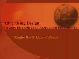 Advertising Design: Message Strategies and Executional