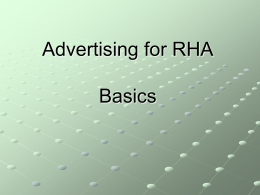 Advertising Basics - MSU | RHA | Michigan State University