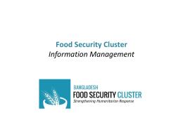 Food Security Rapid Assessment Check List