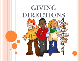 GIVING DIRECTIONS - efl