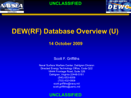 DEW(RF) Database Overview