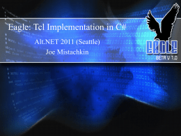 Eagle: Tcl Implementation in C#