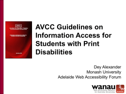 AVCC Guidelines on Information Access for Students with