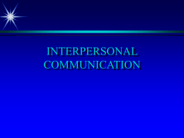 COMMUNICATION - University of Nevada, Las Vegas