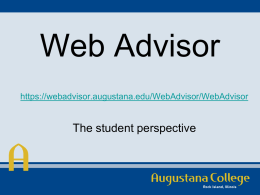 Web Advisor - Augustana College