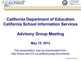 May 15, 2012 CAG Presentation in ppt