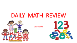 DAILY MATH REVIEW - TEACHEZ