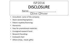 ISP2014 DISCLOSURE Name: