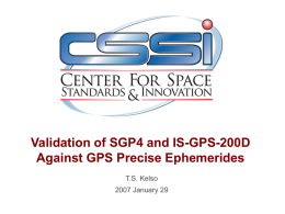 Validation of SGP4 and IS-GPS-200D Against GPS Precise