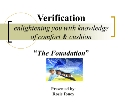 Verification embracing you with knowledge of comfort