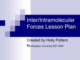 Inter/Intramolecular Forces Lesson Plan Northeastern