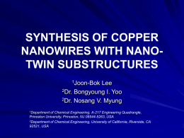 PRODUCTION OF NANOWIRES WITH NANO
