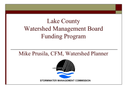 Lake County Watershed Management Board Funding Program