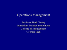 MGT 3501 - Operations Management Fall 2005