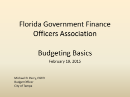 Florida Government Finance Officers Association