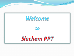 SIECHEM TECHNOLOGIES PVT. LTD.