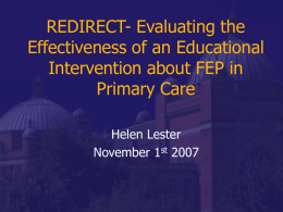 REDIRECT- Evaluating the Effectiveness of an Educational