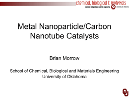 Metal Nanoparticle/Carbon Nanotube Catalysts