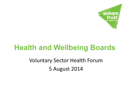 Health and Wellbeing Boards - Community Action Fareham Website