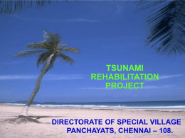 TSUNAMI EMERGENCY ASSISTANCE PROJECT (TEAP)