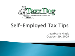 Self-Employed Tax Tips