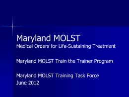 Maryland MOLST