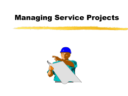 Managing Projects - University of Texas at Austin