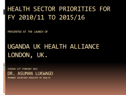 Health Promotion Education - Zambia UK Health Workforce