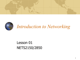 Chapter 1 Data Communications and Networks Overview