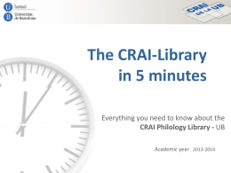 The CRAI-Library in 5 minutes: everything you need to know