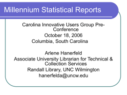 Millennium Statistical Reports