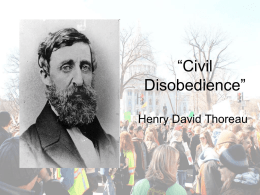 "Civil Disobedience"" - Lake Mills Middle School"