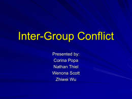 Inter-Group Conflict - Syracuse University