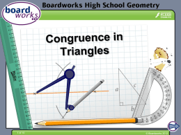 Congruence in Triangles