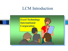 LCM Introduction - Excel