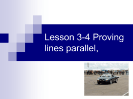 Lesson 3-4 Proving lines parallel,