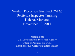 Worker Protection Standard Training Course