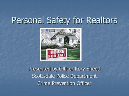 Personal Safety for Realtors - American Crime Prevention