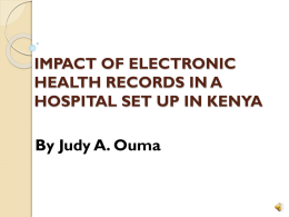 IMPACT OF ELECTRONIC HEALTH RECORDS IN A HOSPITAL …