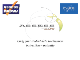 Assess Now - Pacific Learning