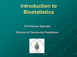 Review of key biostatistical concepts relevant to EBM