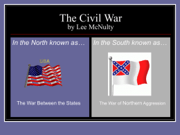 The Civil War - USF College of Education