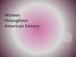 Women throughout American history
