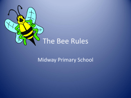 The Bee Rules - Midway Primary School