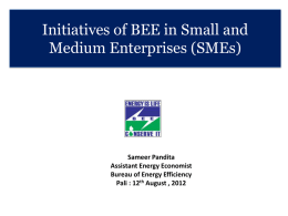 Energy Efficiency Programme for Small and Medium