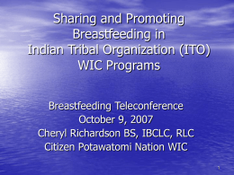 CDC Breastfeeding Teleconference