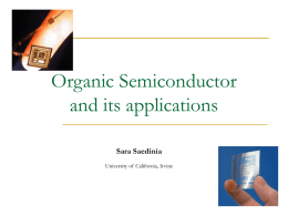 Organic Semiconductor and its applications