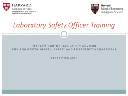 Laboratory Safety officer Training