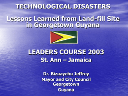 NATURAL DISASTER GUYANA