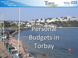 Integration – What Torbay has learnt